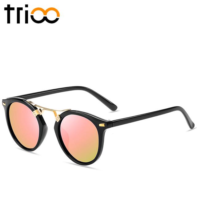 TRIOO Mirror Round Ladies Sunglasses