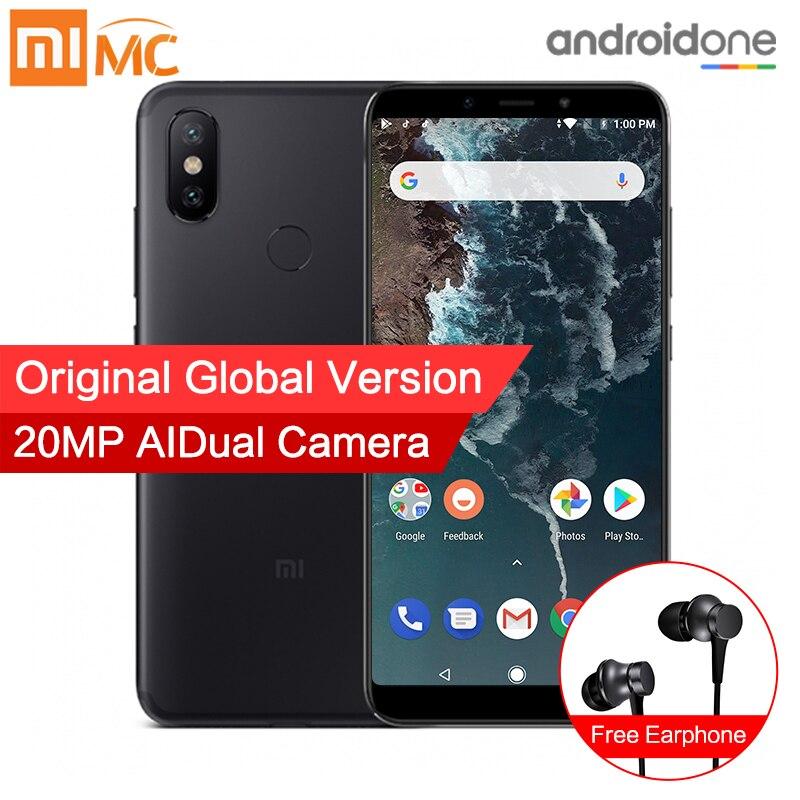 Глобальная версия Xiaomi Mi A2 4 ГБ 64 ГБ смартфон 20.0MP AI двойной Камера 5,99 18:9 полный Экран Snapdragon 660 восьмиядерный металлический корпус