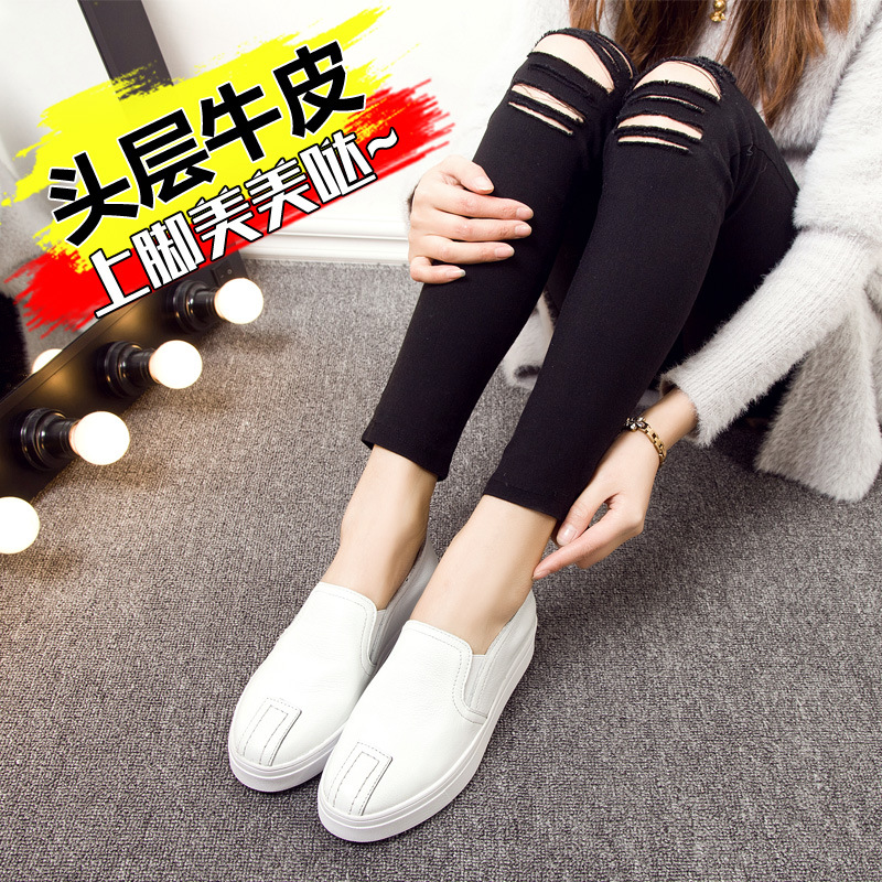 Walking womens shoes 2019 spring and summer models leather Korean walking shoes B1B1-B1B-5Walking womens shoes 2019 spring and summer models leather Korean walking shoes B1B1-B1B-5