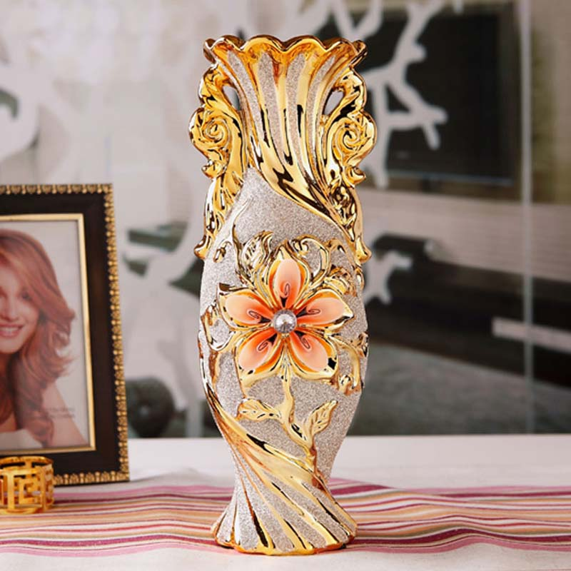 European modern fashion ceramic wedding flower vase for Modern home decor vases