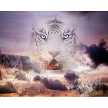 White tiger diamond Embroidery diy painting mosaic diamant 3d cross stitch pictures H650