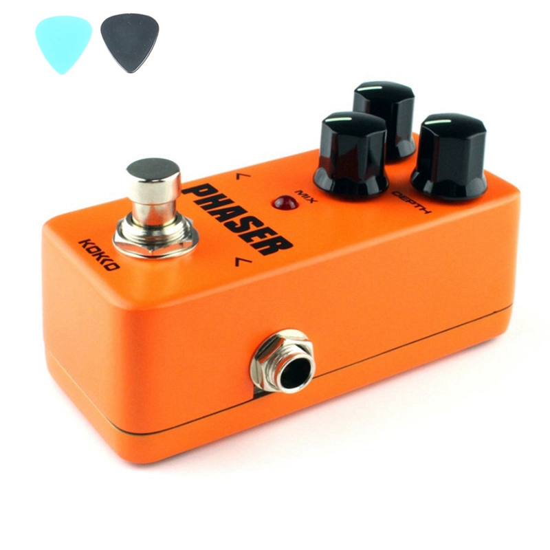 KOKKO Flanger FPH2  Vintage Phaser Guitar Effect Pedal Mini Phaser Analog Parts With True Bypass Orange Pedals mooer ensemble queen bass chorus effect pedal mini guitar effects true bypass with free connector and footswitch topper