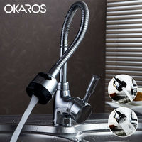 Free Shipping Solid Brass Kithchen Pull Down Sink Faucet Tap Dual Sprayer Nozzle Cold Hot Water