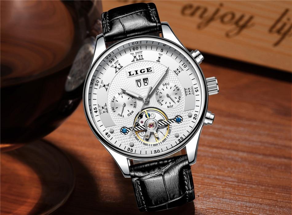 Lige relógios masculinos topo de luxo marca