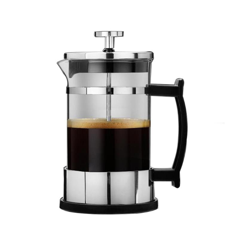 350ml Manual Coffee Espresso Maker Pot Stainless Steel Glass Teapot Cafetiere French Coffee Tea Percolator Filter Press Plunger цена