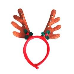 Adult Kids Christmas Headband Reindeer Antlers Headband Xmas Party Decor Fancy Dress Christmas Party Hair Clasp Head Hoop