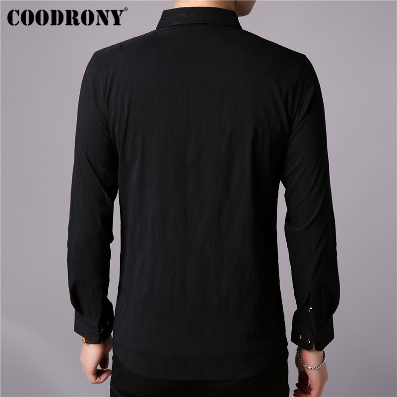 Coodrony Brand Men Shirt Autumn New Arrival Long Sleeve Cotton Shirt Men Streetwear Plus Size Casual Shirts Business Dress 96008
