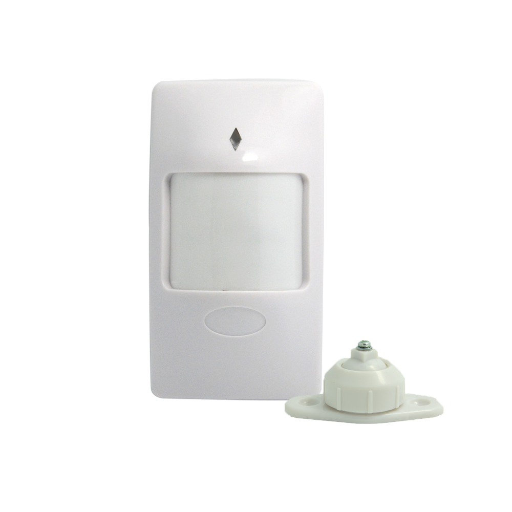 (1 pcs) Indoor wall-mounted PIR Motion detector with holder self defense intruder alarm wire infrared sensor NC signal output
