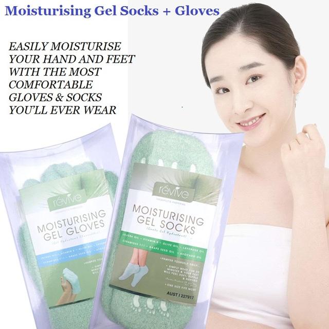Genuine Austrália Duradoura Gel Hidratante Luvas + Meias com óleo essencial Mão Tratamento Cuidados Com Os Pés Pele Dura E Seca Mão Pé cuidados
