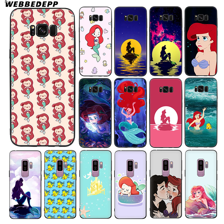 WEBBEDEPP Ariel Little Mermaid Soft TPU Silicone Case for Samsung Galaxy S10 S10e S9 S8 Plus S7 S6 Edge & J6 image