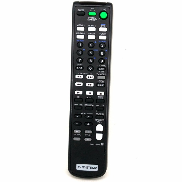Used Original Remote Control Rm U306b For Sony Av System2 Strde497 Strde597