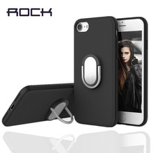 for iPhone 7 case ROCK Luxury 3D Aluminum Metal Holder Stand Phone Cases For iPhone 7 7plus Hard Kickstand Back Cover Case