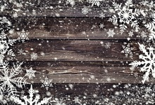 Laeacco Christmas Snow Flake Wooden Board Scene Baby Photography Backgrounds Customized Photographic Backdrops For Photo Studio