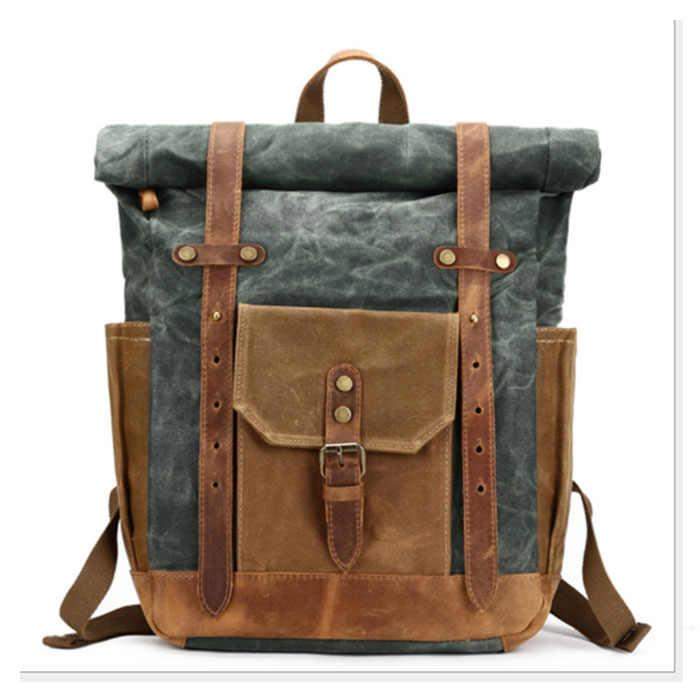 Ретро мужской холщовый школьный студенческий рюкзак для колледжа повседневные рюкзаки дорожная сумка для ноутбука сумки женские сумки серый/армейский зеленый/коричневый