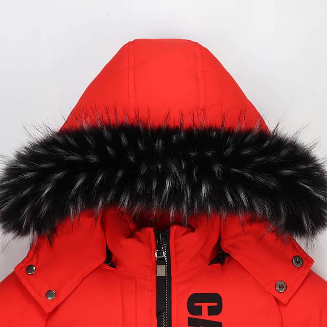 2019 new winter children's clothing children's boy cotton padded warm down jacket in the big boy baby long coat coat 4