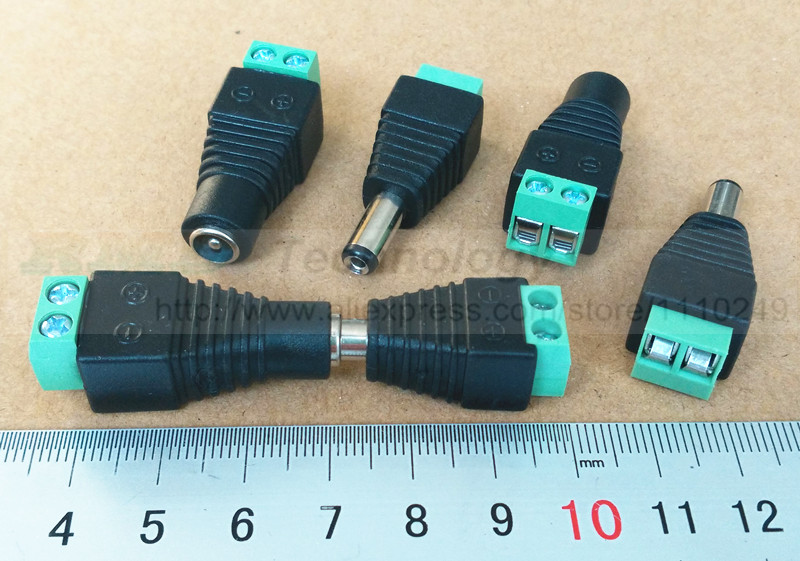 2.1x5.5mm DC Power 5pcs Female Plug Jack + 5pcs Male Plug Jack Connector 10pcs/lot Socket Adapter free shipping 5pcs best quality dc plug dc plug long 5 5 2 1mm solder free shipping