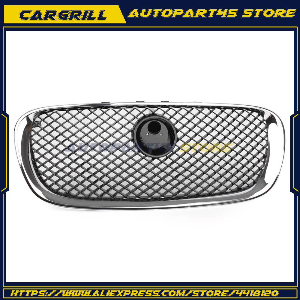 Gloss Black Upper Radiator Grill Front Grille For Jaguar XF 2008 2009 2010 2011