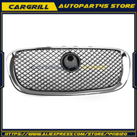 Auto Voorbumper Grille Grill voor Jaguar X250 XF XFR XFRS 2008-2011 Chrome Black