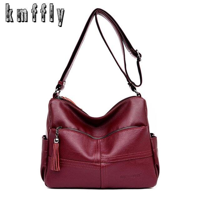 07cbe7e380d7 KMFFLY 2018 Famous Brands Women Messenger Bags Fashion Leather Women  Handbags Ladies Shoulder Bags Mother Crossbody