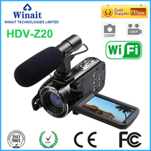 DHL Free Ship HDV-Z20 24Mp Wifi 1080P Full HD Digital Video Camera Camcorder with Remote Wide Angle Lens and Hot Shoe 3″ Touch