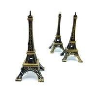 뜨거운 판매! 2 개 32 센치메터 청동 톤 파리 에펠 탑 입상 동상 골동품 홈 장식 빈티