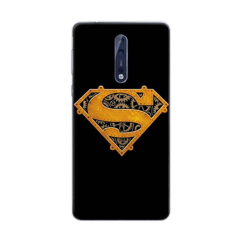 """チャーミングマーベルヒーローキャプテン · アメリカ電話ケースノキア 8 アイアンマンスターウォーズ Nokia8 用ソフト Tpu シェル Coque キャパ 5.3 """"インチ"""