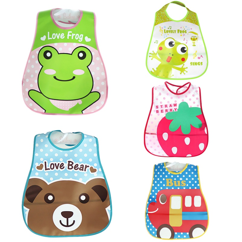 Factory Price!New Design Waterproof Baby Bibs Silicone Feeding Baby Saliva Towel Wholesale Newborn Cartoon Aprons Cute Baby Bibs