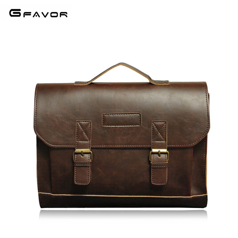 Business Briefcase Men 2019 Leather Handbags Men Laptop Bag Casual Man Bag Classic Shoulder Bags Vintage Men's Briefcases