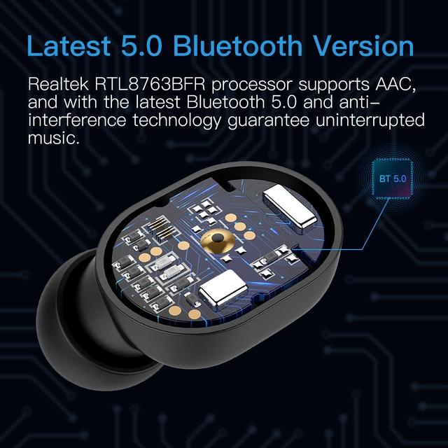 Wavefun X-Pods 2L AAC&SBC Bluetooth V5.0 TWS Earphone True Wireless Headphones Stereo Earbuds with Mic Binaural Call Headsets 3