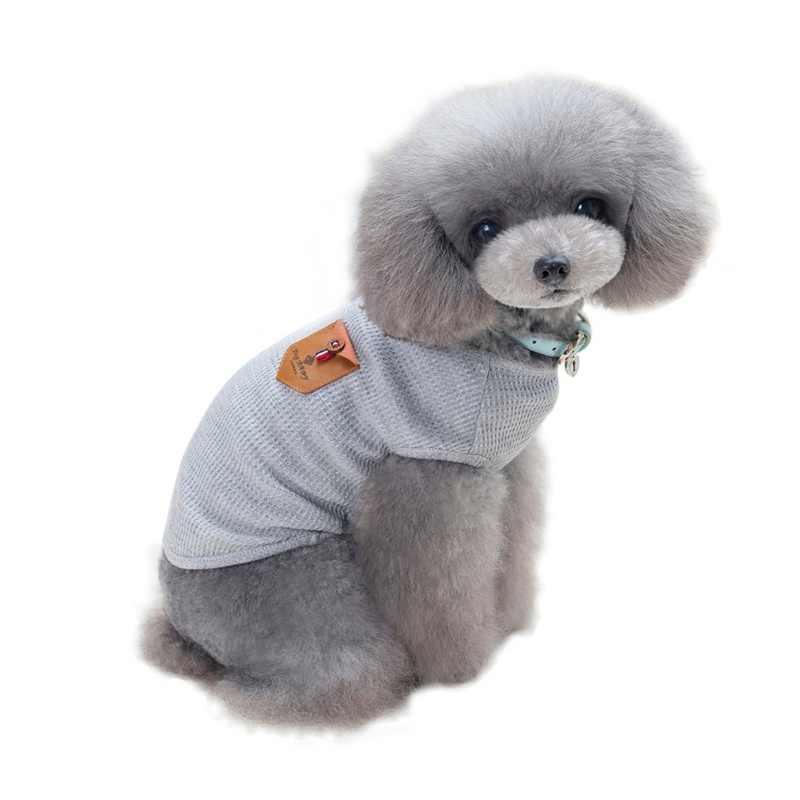 ฤดูใบไม้ผลิฤดูร้อนเกาหลีสไตล์ผ้าฝ้ายสัตว์เลี้ยงฝ้าย Coat เสื้อผ้าลูกสุนัขแฟชั่นสุนัขแมวเสื้อ T เครื่องแต่งกายเครื่องแต่งกายสัตว์เลี้ยงผลิตภัณฑ์
