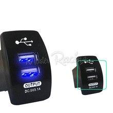 3.1A 12-24V Motorcycle Car Charger USB Charger Dual USB Socket LED Waterproof For Samsung iPhone 5 6 6S Ipad SUV ATV GPS