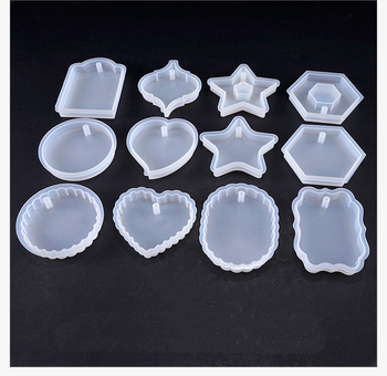 Heart-shaped Hexagon Highlight Wavy Oval Expoxy Resin Jewelry Mold for Making Jewelry