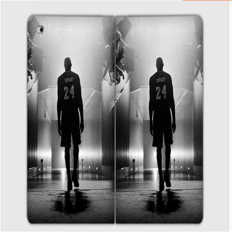 3d hdパターンバスケットボールスター神戸ブライアントアイバーソン革カバーのためのipad mini 1 2 3共通空気ヨルダンタブレットcase
