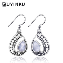 GUYINKU 925 Sterling SilverJewelry Earrings Natural Moonstone Drip Party Gifts High Jewelry Wholesale