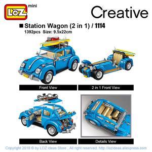 Image 3 - LOZ Technic Mini bloques de construcción, carrito de perro caliente, coche, vehículo, juguetes educativos para niños, Creator, camión helado