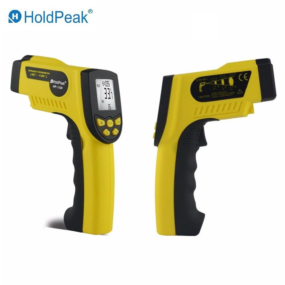 HoldPeak HP-1120 Digital Infrared Thermometer Non Contact Temperature Thermometer Gun Laser Termometro Pistola holdpeak hp 760g 1000volt