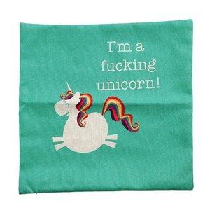 Image 5 - Funda de cojín de unicornio CAMMITEVER funda de almohada decorativa para el hogar funda de cojín de lino sofá funda de almohada de dibujos animados