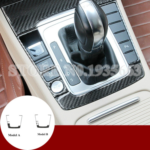 цены For Volkswagen Passat B7 CC Carbon Fiber Gear Shift Box Frame Cover 2011-2014
