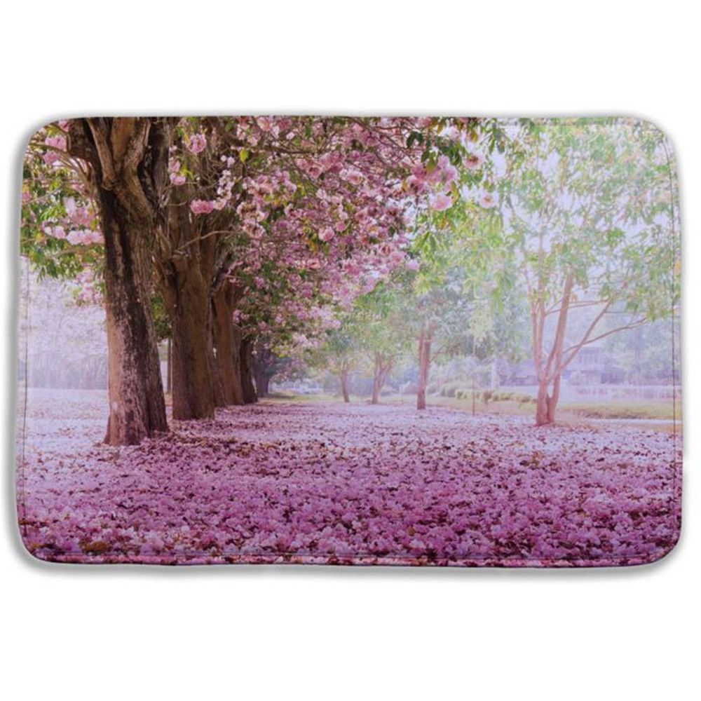 cheap high quality 3d tree pattern bath rug memory foam bath mat