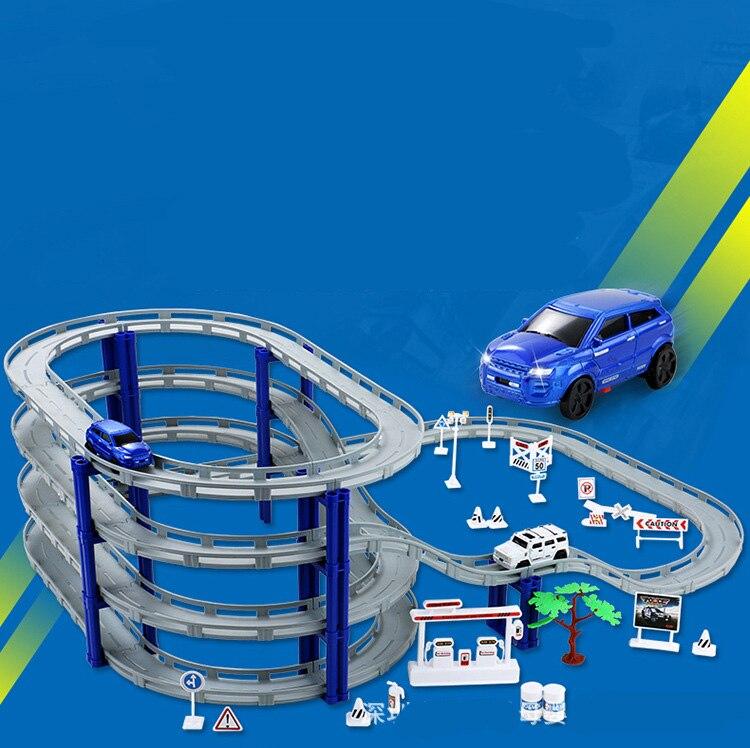 Voiture de course de vitesse moulée sous pression piste de voiture magique jouet de voiture de Rail électrique pour enfants jouet éducatif garçon Train course de voiture ensemble de piste 338-36