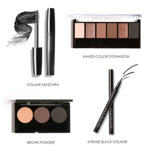 Image 4 - FOCALLURE 8 PCS Makup Tool Kit Moet Hebben Cosmetica Inclusief Glitter Oogschaduw Matte Lippenstift Blush Mascara Met Make Up Tas