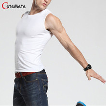 2017 Hot Clothing Casual Gilet Men O-Neck Tank Tops Summer Male  Bodybuilding Sleeveless Vest gymclothing men fitness T shirt