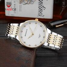 BADACE модные часы для влюбленных Кварцевые мужские классические золотые женские часы люксовый Топ Бренд Водонепроницаемые наручные часы из нержавеющей стали 8822