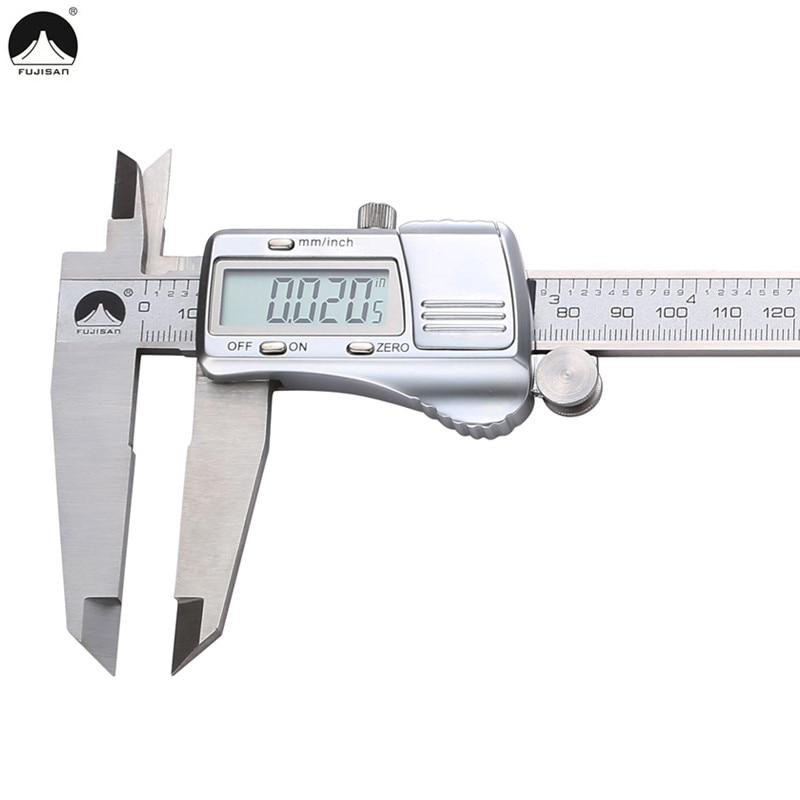 FUJISAN Digital Caliper 0-300mm/0.01mm Vernier Calipers Metric/Inch Stainless Steel Electronic Micrometer Gauge Measure Tools dual graduated metric and inch diameters circle stage micrometer for 1 inch to 0 002inch 100 micrometer microscope