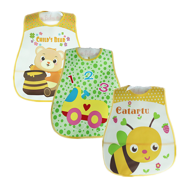 Baby Bibs Waterproof 3 Pieces/lot Lunch Bibs Infant Burp Cloths 2016 Brand Clothing Towel Kids Clothing Accessories 3