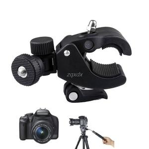 Image 2 - High Quality 1/4 Camera DV DSLR Bike Bicycle Handlebar Clamp Bracket Tripod Mount Screw Clip For Holding LCD Monitor DSLR Camera