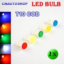 Flytop 1 x T10 COB LED Bulb White / Yellow / Green / Blue / Red Color 194 W5W Car Rear Light Automotive Lamp