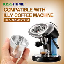 304 Stainless Steel Reusable Refillable Coffee Filter Capsule Fit for illy Espresso High Quailty Creamy Tools