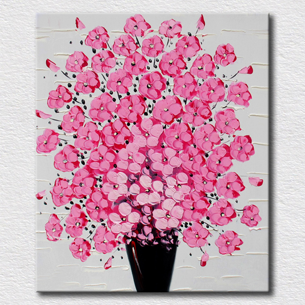 Modern Decoration High Quality Painting Abstract Flowers Oil