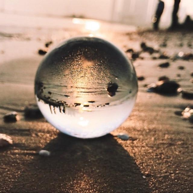 60mm Crystal Ball 3D Laser Engraved Quartz Glass Ball Sphere FengShui Globe Divination Quartz Magic Glass Ball Home Decor
